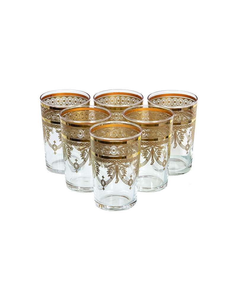 Morocan Berber Gold Tea Glasses