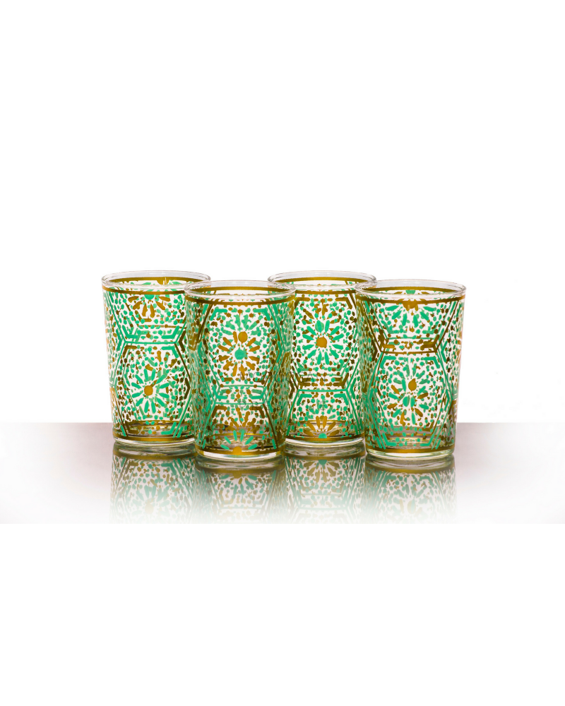 Moroccan Djouba Green Tea Glasses