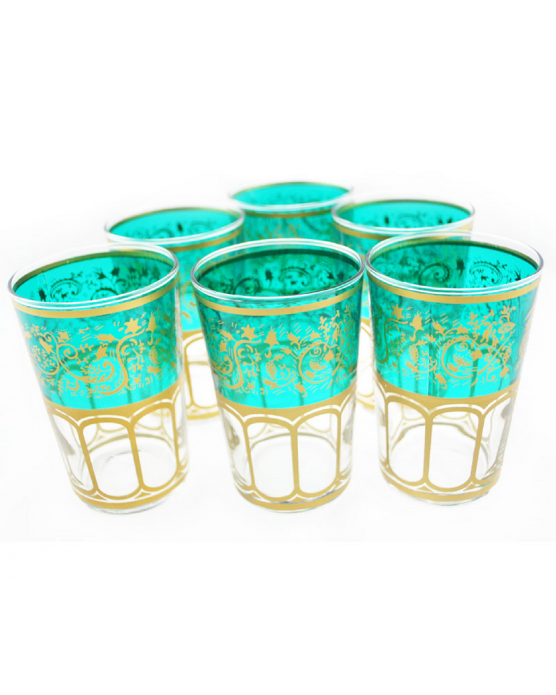 Moroccan Meknes Green Tea Glasses