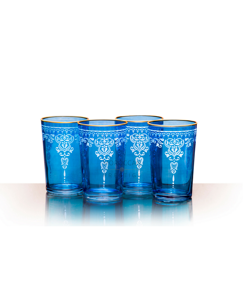 Morjana Relief Tea Glasses