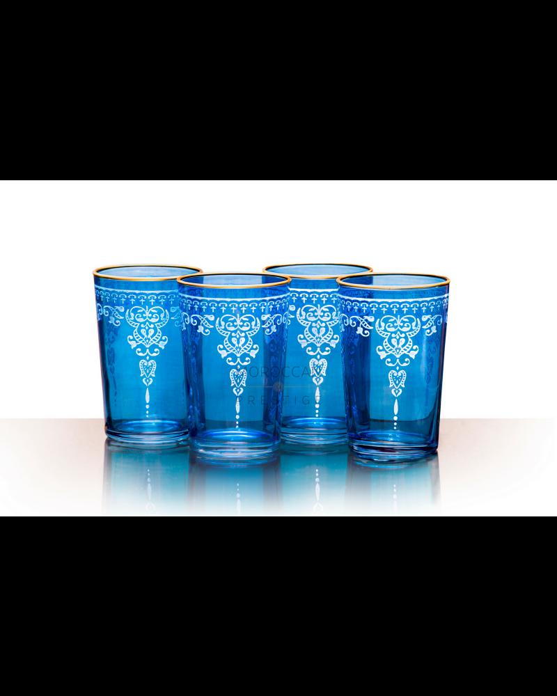 Morjana Relief Tea Glasses